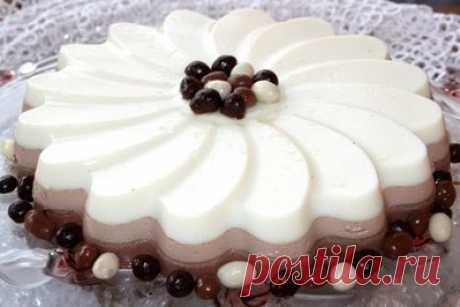 Десерт с желатином Три шоколада - Десерты