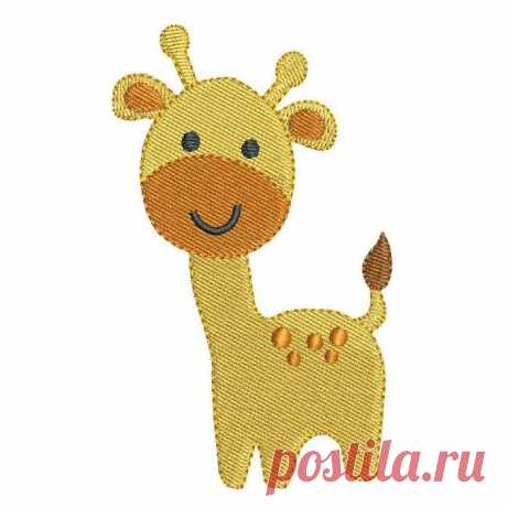 """Mini Giraffe (FA560-4) Mini Giraffe - This is a mini fill stitch design. 2 Design sizes are included with your purchase: 1.3""""x2"""" and 1.8""""x3"""". Many popular machine formats provided."""