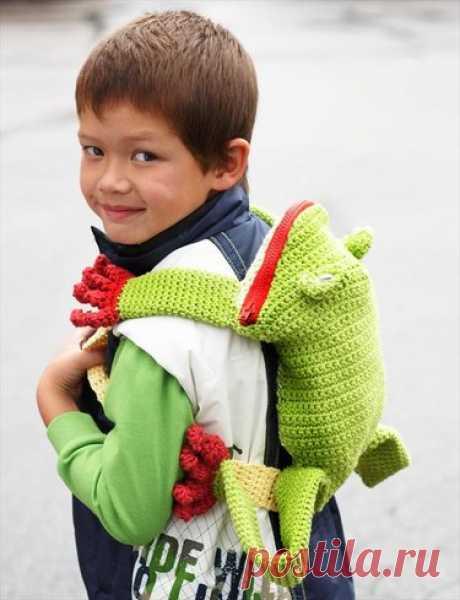 37 идей «Детские рюкзаки крючком».
