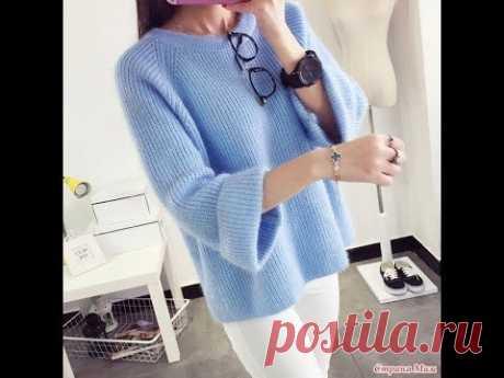 Пуловер спицами.Размер 50-52.Часть №5