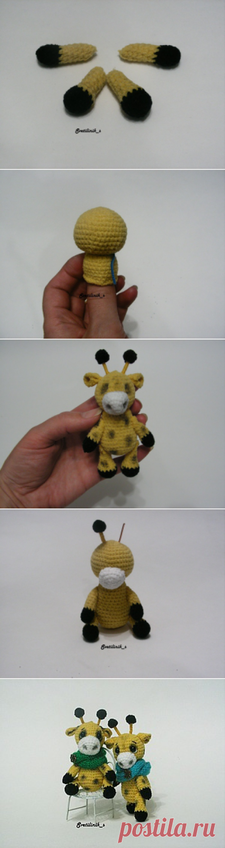 Вяжем мини-жирафиков - Ярмарка Мастеров - ручная работа, handmade