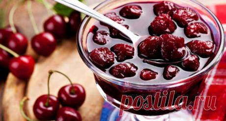 Домашнее вишневое варенье - 4 уютных рецепта (с косточками и без).