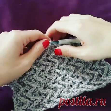 Узоры спицами и крючком в Instagram: «Ловите в копилочку любители крючка от @crochet_atolyesi»
