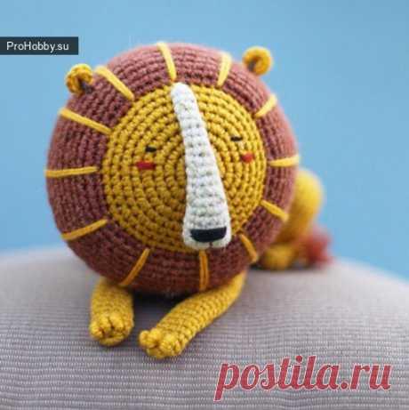 Лев / Вязание игрушек / ProHobby.su | Вязание игрушек спицами и крючком для начинающих, мастер классы, схемы вязания