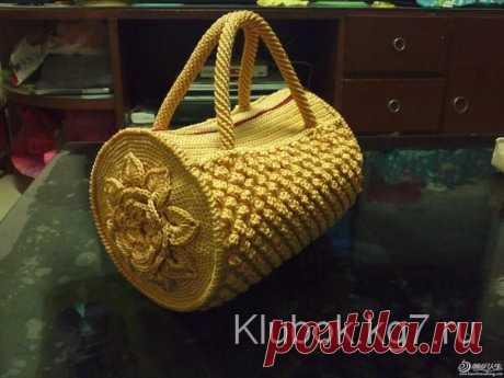 Handbag, knitted hook   Ball