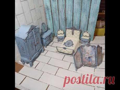 Кукольная мебель своими руками ЧАСТЬ 1: Шкаф