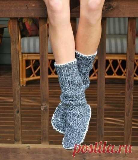 Как сделать обувь для дома из старого свитера