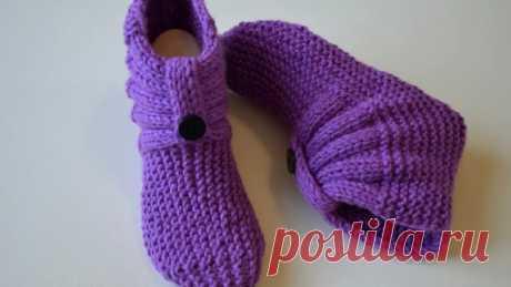 Симпатичные носочки спицами