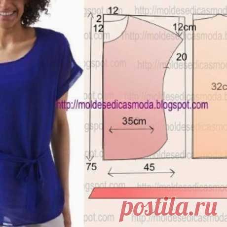 Идеи для любителей шитья.  Блузки - туники. Лёгкий крой