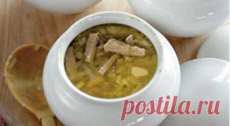Горшочек супа из индейки с перловой крупой — Едим дома