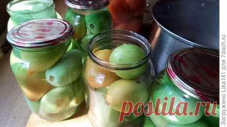 Очень вкусные маринованные зеленые помидоры в волшебной заливке