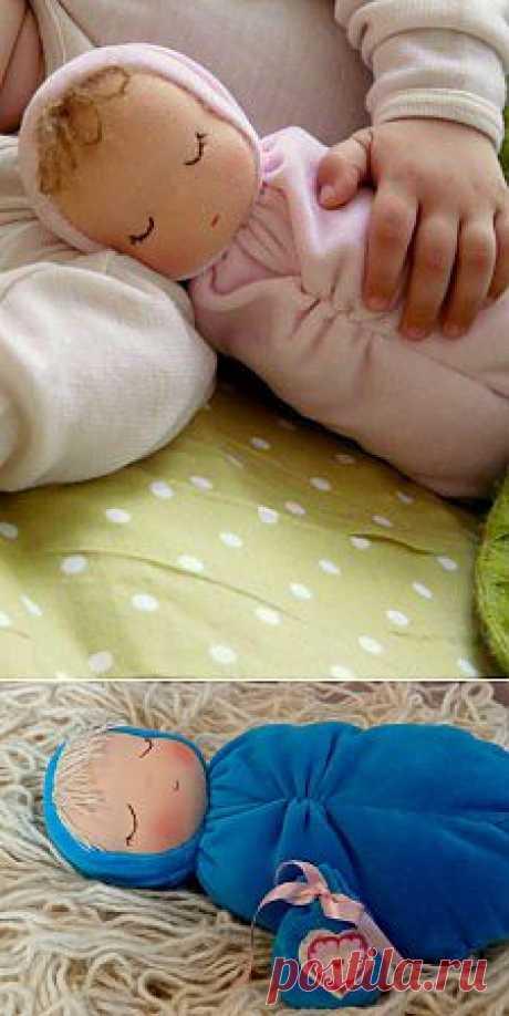 Вальдорфская куколка-младенец.Сплюшка.МК.  (нашла крапива74)