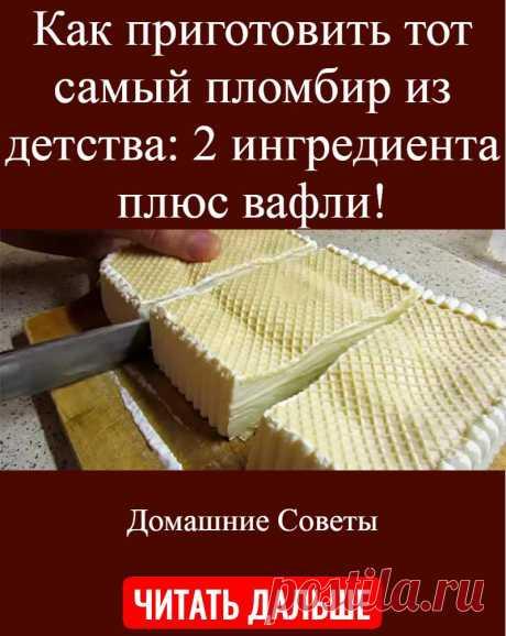 Как приготовить тот самый пломбир из детства: 2 ингредиента плюс вафли!