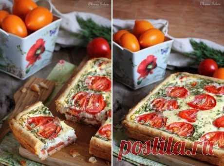 Сочный, нежный сырно-помидорный пирог на хрустящем сырном тесте — я в восторге   Отказаться от второго кусочка совершенно невозможно!      Любимое сочетание сыра и помидоров в этом пироге идеально! Ингредиенты: сыр 200 граммсливочное масло 100 грамммука 200 граммяйца 4 штукмоло…