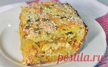Капустный пирог с мясом — полноценный обед или ужин! | Готовим вкусно и по-домашнему