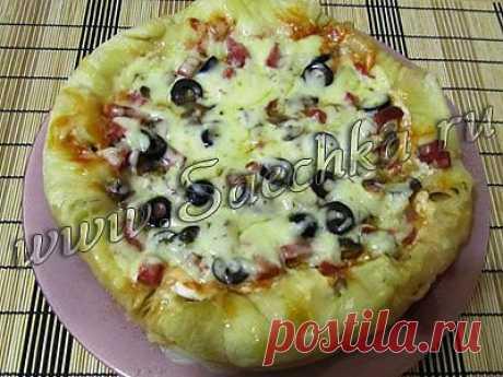 Пицца в мультиварке   рецепты на Saechka.Ru