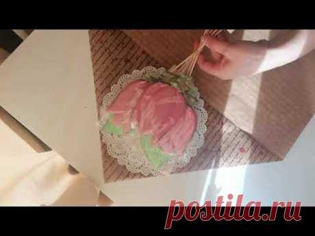 Упаковка пряничного букета - YouTube