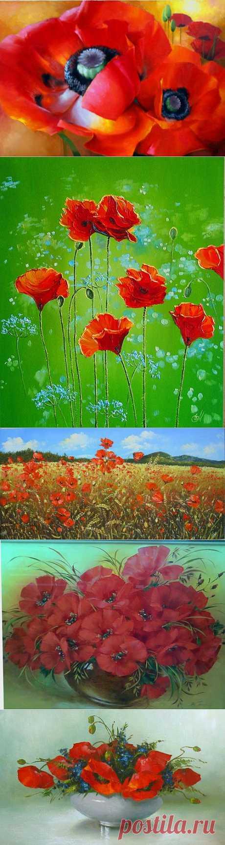 Картины современных художников. Цветы.