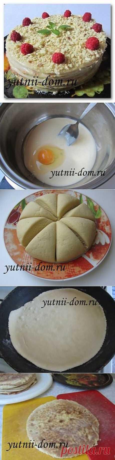 Торт на сковороде Минутка за полчаса Рецепт с фото | Уютный дом