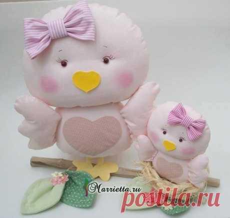 Выкройки птичек для пошива игрушки