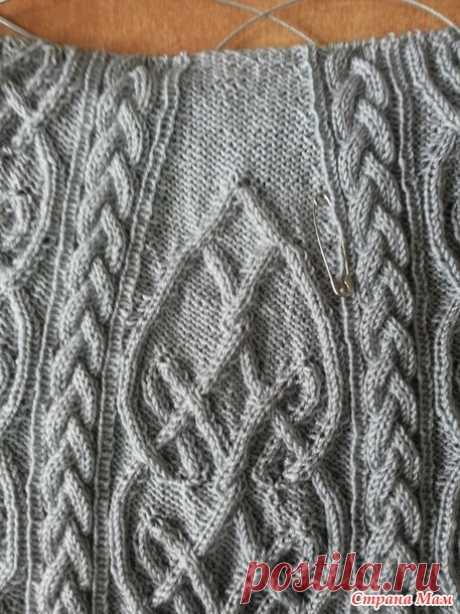Платье кельтскими аранами - Вяжем вместе он-лайн - Страна Мам