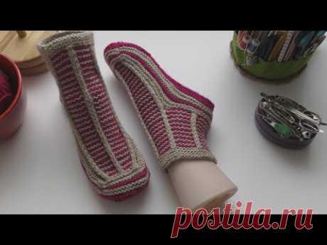 #358. Следки Любаша – Следки связаны на носочных спицах, без единого шва с цельной подошвой.