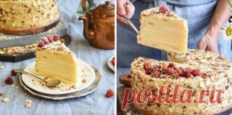 Творожный «Наполеон»: всегда готовлю смело! Режется на идеально ровные куски. Нет праздника, который бы обошелся без сладкой выпечки. Десерт — это то,...