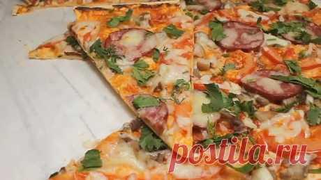 Самая быстрая и простая пицца! Этот рецепт всегда спасает!
