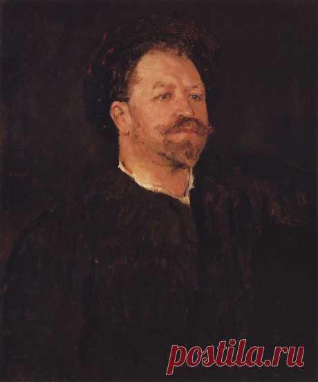 Портрет итальянского певца Франческо Таманьо. 1891-1893      Валентин Александрович Серов (1865-1911). Часть 1: vakin