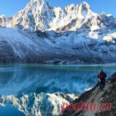 Озеро Гокиа. #гокиа,#озеро,#горы,#непал,#гималаи,#путешествия,#треккинг,#озерогокиа.