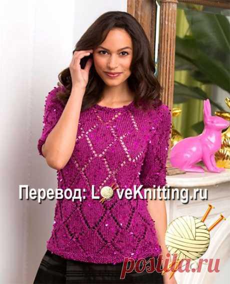 Нарядный пуловер  | Loveknitting.ru
