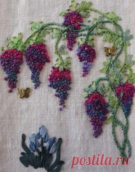 """https://www.pinterest.com/moreidey/embroidery/  Вышивка в технике """"французский узелок"""". Идеи для вдохновения от разных авторов."""