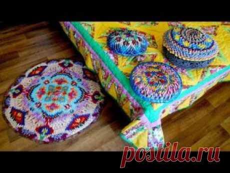 Коврики и подушки из уголков