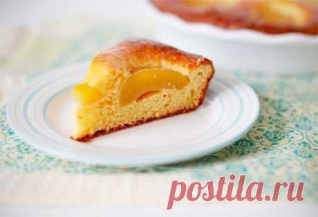 Как приготовить творожный пирог с персиками и джемом  - рецепт, ингредиенты и фотографии