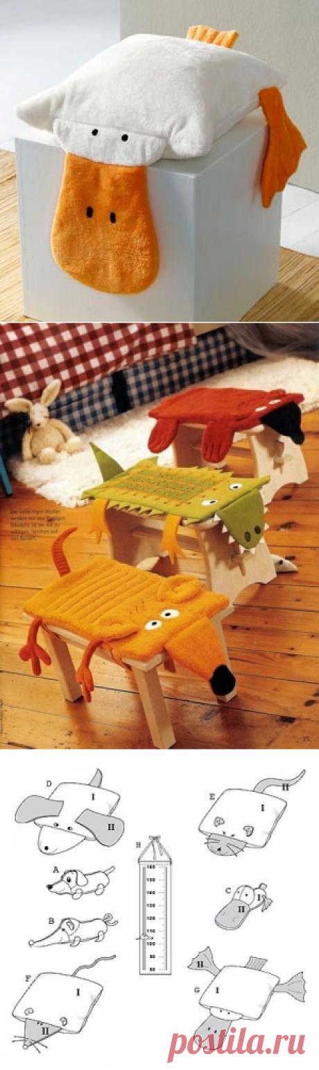 Как сшить забавные подушки-сидушки