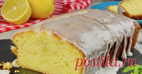 Лимонный пирог (кекс) с лимонной глазурью