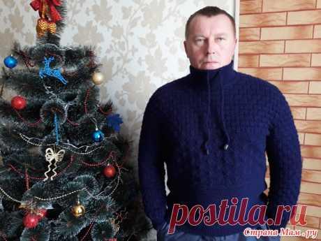 Пуловер (свитер) спицами для мужчин.: Фото альбомы - Страна Мам
