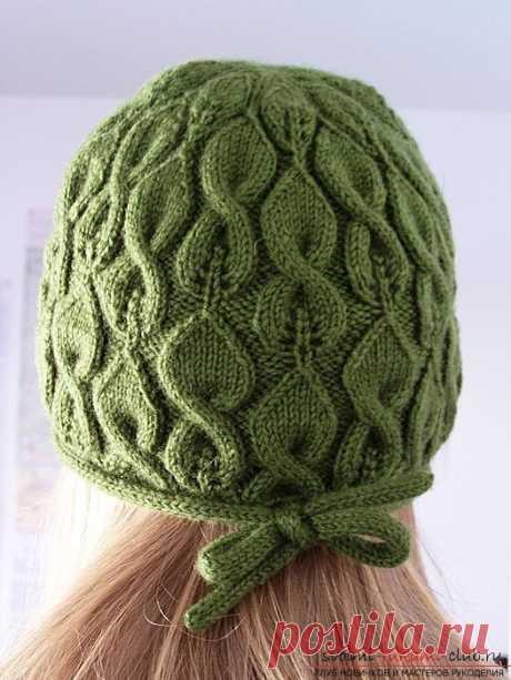 Вяжем спицами модную женскую шапку по профессиональным советам. Простое и понятное описание вязания оригинальной женской шапки