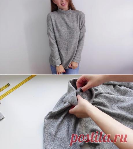 Как сшить свитер из тонкого трикотажа: мастер-класс плюс видео — Мастер-классы на BurdaStyle.ru