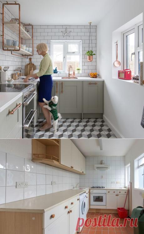 Проект недели: Кухня размером 6 кв.м с двумя окнами
