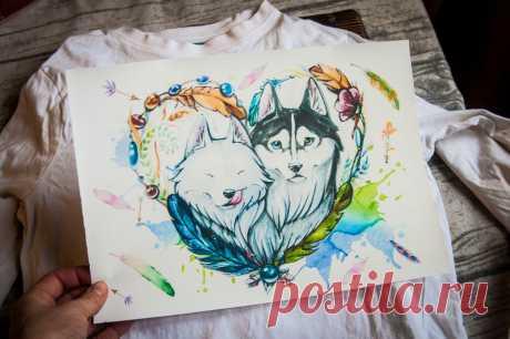Перенос рисунка на светлую одежду при помощи утюга и струйного принтера