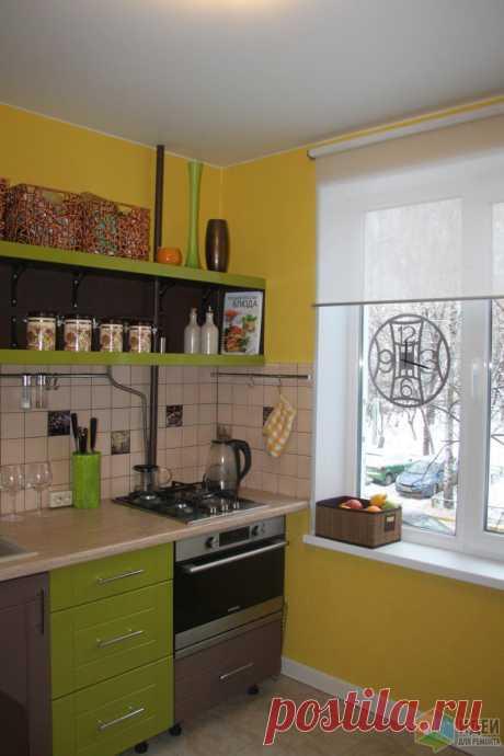 Наша веселая кухня, яркая кухня фото, идеи ремонта на маленькой кухне в хрущевке   Идеи для ремонта