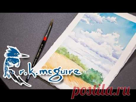 How to Watercolor Paint Clouds | R K McGuire - YouTube