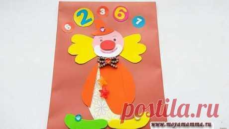 """Аппликация клоун из цветной бумаги пошагово для детей Аппликация клоун. Мастер-класс для детей как сделать аппликацию """"Клоун"""" из цветной бумаги своими руками. С пошаговым описанием и фото."""