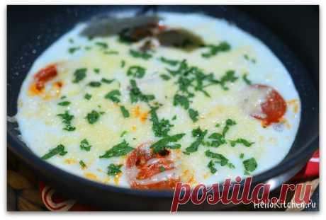 Яичница из белков с помидорами и моцареллой — Привет, Кухонька!