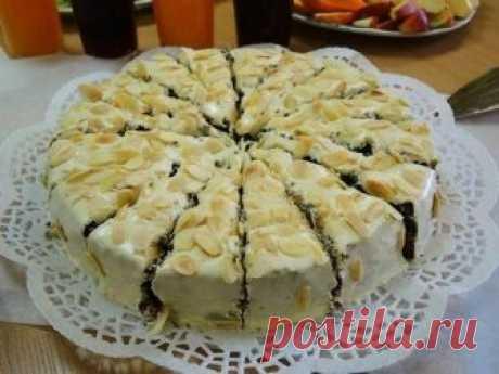 Изумительный маковый торт с кремом из вареного сгущенного молока Готовьте с удовольствием, радуйте свою семью!