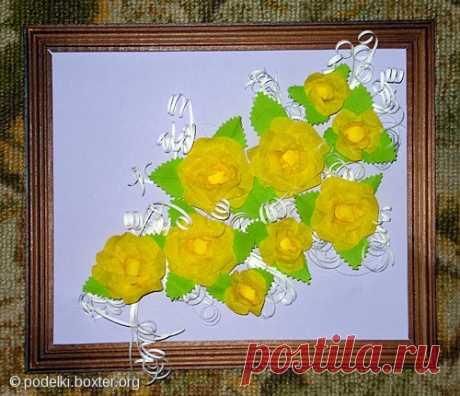 Бумагопластика Делаем красивые цветы с детками