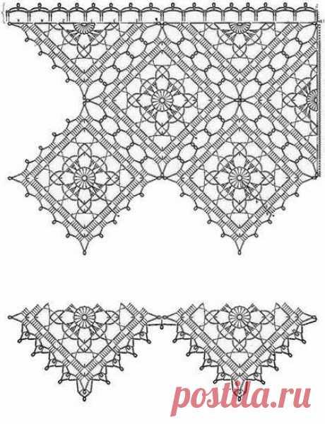 Вязаные шторы на кухню крючком - простые и красивые