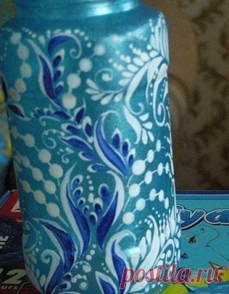 Роспись баночек и бутылочек — Сделай сам, идеи для творчества - DIY Ideas