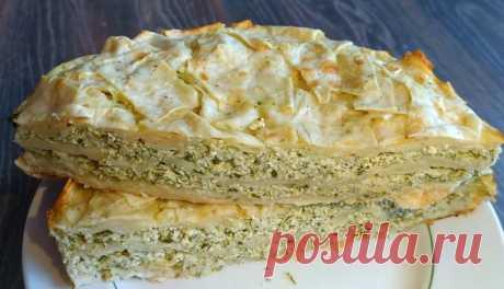 Пирог из лаваша с сыром и творогом. Видео рецепт